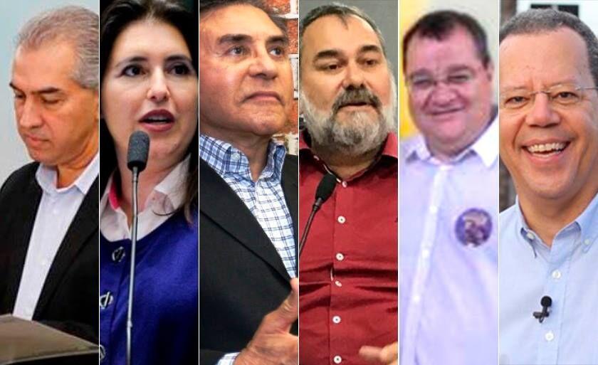 Da esquerda para direita: Azambuja, Simone Tebet, Odilon, Amaducci, João Danieze e Marcelo Bluma