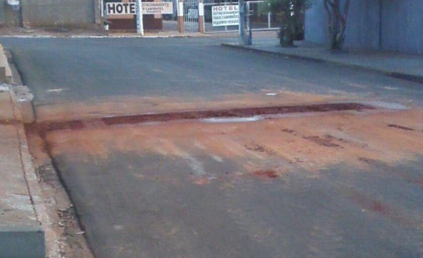 A rua havia sido recapeada há quatro meses