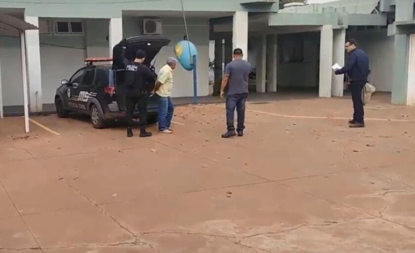 Suspeito foi levado para a Delegacia da Polícia Civil de Três Lagaos
