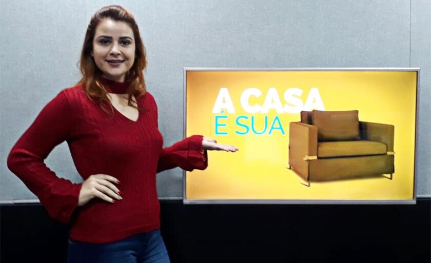 """Designer e especialista em sobrancelhas, Kátia Freitas, participou do programa """"A Casa é Sua"""" desta quarta-feira (8)"""