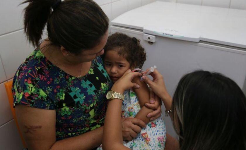 Campanha Nacional de Vacinação Contra a Poliomielite e Sarampo começou na última segunda-feira