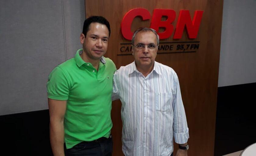 Fabiano Reis e Jorge Zaidan, jornalistas do Canal do Boi