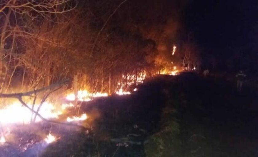 Local é de difícil acesso e há pelo menos 11 dias o fogo se alastra pela região