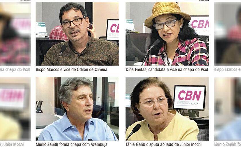 CBN Campo Grande faz série de entrevistas com candidatos a vice-governador de MS