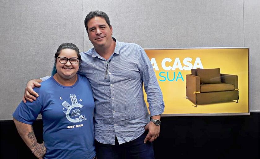 Carolina Ferreira, Promotora de Esporte e Lazer e Ricardo Castelhano, Diretor Sest Senat