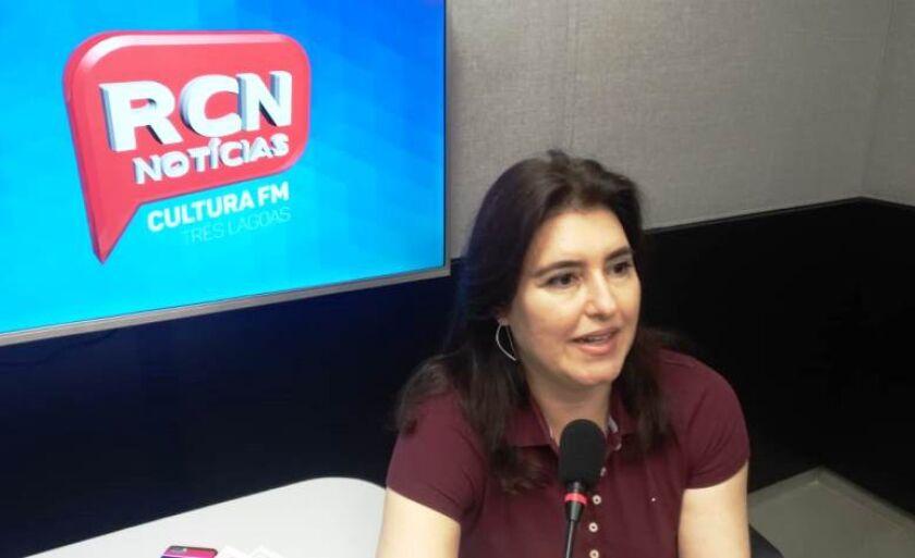 Senadora em entrevista a rádio Cultura FM e TVC Canal 13