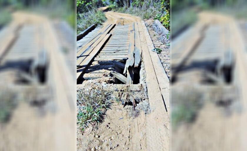 Ponte sobre o Córrego César na Fazenda Betel, Antiga Seiva