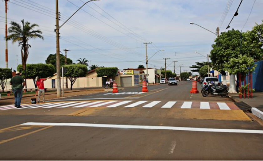 A Rua Duque de Caxias e a Avenida Presidente Vargas foram sinalizadas