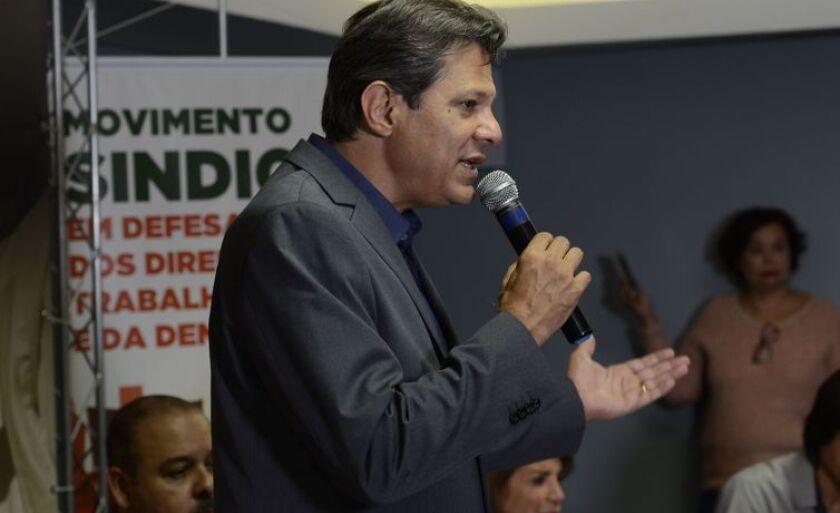 O candidato à Presidência da República, Fernando Hadda