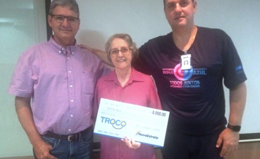 Empresário Joaquim Romero, rmã Aurélia Briosch e Marco Calderon, diretores do hospital