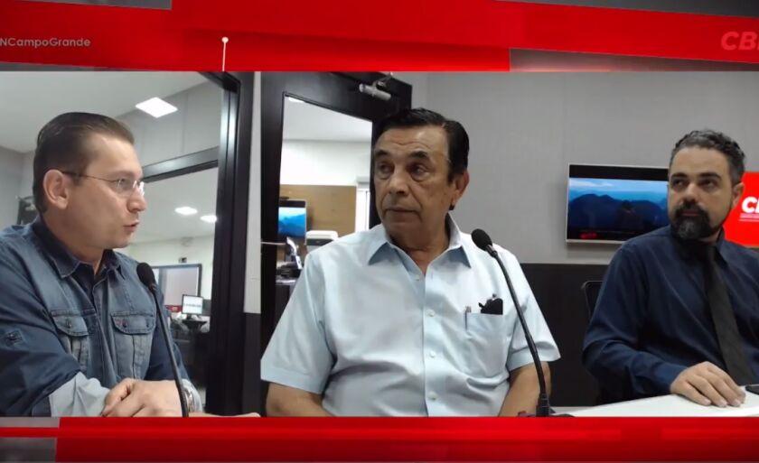 Jornalista Éder Campos (à esq.), empresário Natanael Cintra (ao centro) e o consultor de seguro Luis Souza (à dir.)