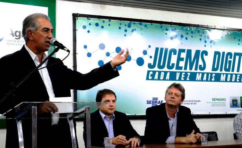 Reinaldo Azambuja lançou o projeto de modernização da Junta Comercial em fevereiro de 2015