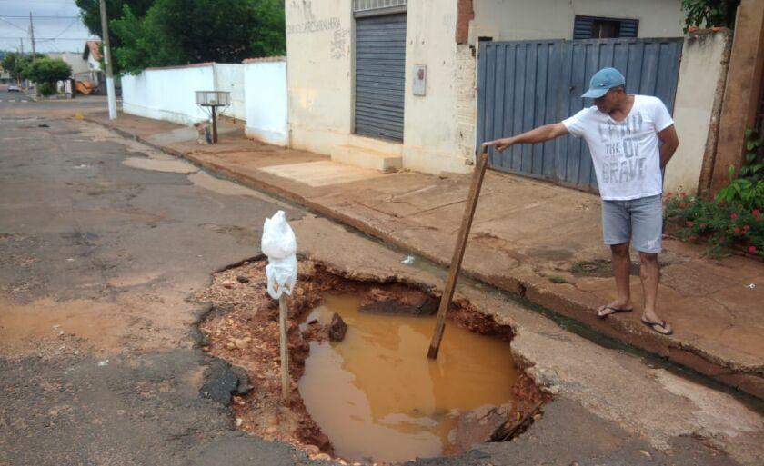 Túlio Botelho,  disse que a pasta iniciou obras de microdrenagem nos bairros Redentora e Paineiras