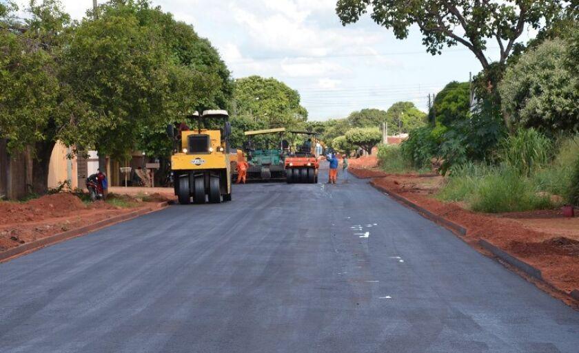 Em Três Lagoas, as ruas no bairro Jardim Dourados receberão investimentos de R$ 399 mil