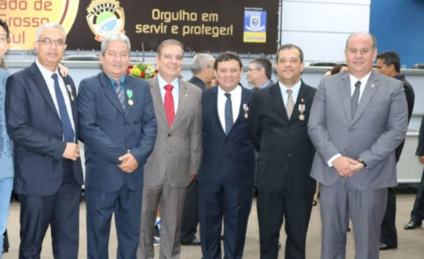 Os homenageados nesta quarta-feira, na Câmara Municipal de Campo Grande