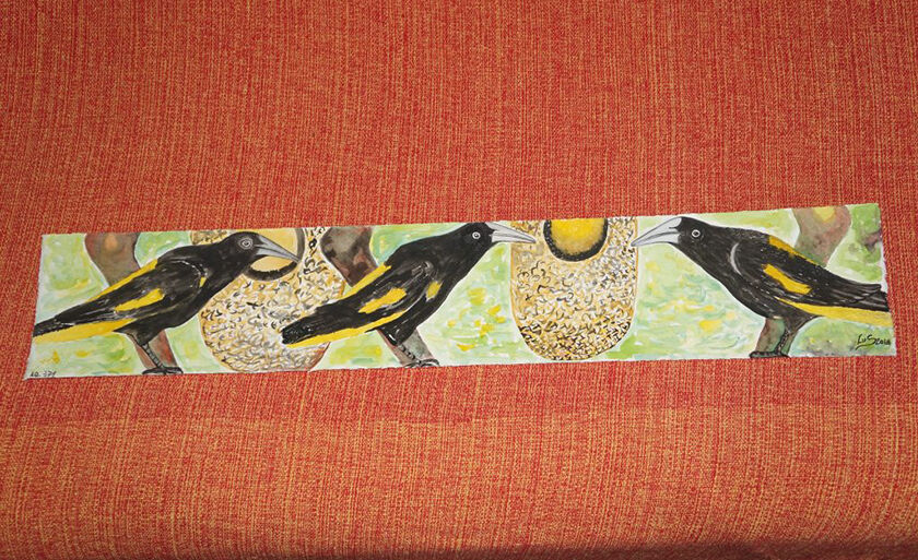 """Mostra """"O que vejo da janela do meu quintal"""", de Lu Sant""""Anna, reflete a cultura nativa, a fauna e a flora do Pará"""
