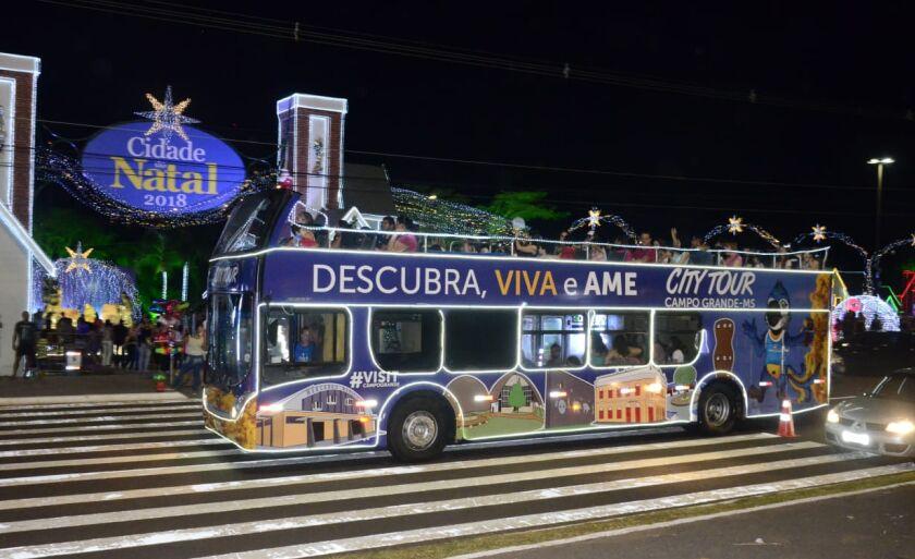 Atualmente, ônibus do City Tour circula durante eventos especiais como no Natal
