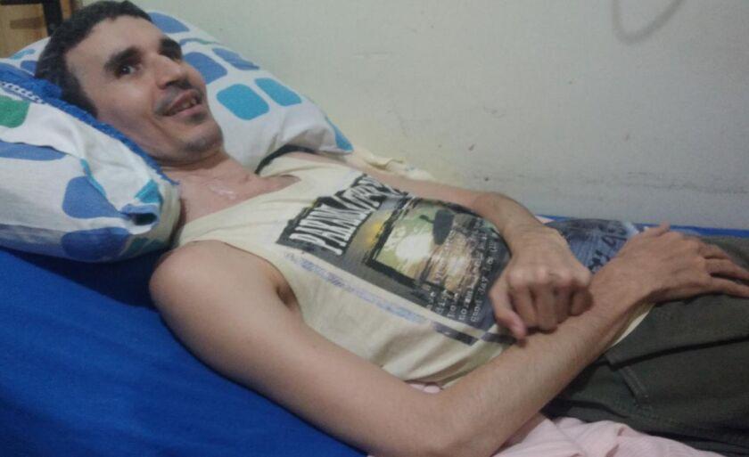 Brasislei de Andrade ficou tretraplégico após cirurgia, em 2004