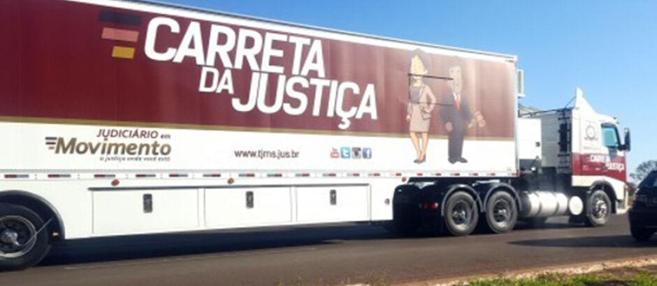 Carreta da Justiça chega em Selvíria hoje