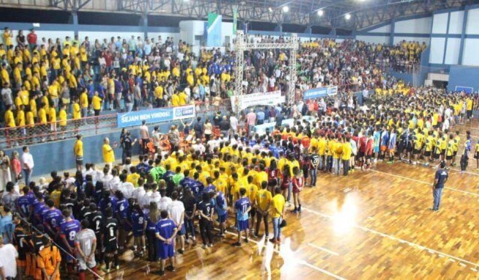 Abertura oficial dos jogos aconteceu na noite de quarta (30), em Coxim