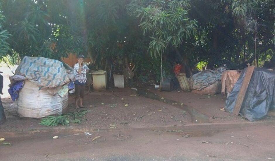 Aos 74 anos ela se embrenha em matas e percorre ruas esburacas em busca de recicláveis para sobreviver