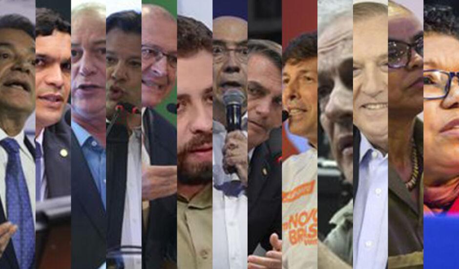 No total, são 13 candidatos a presidente