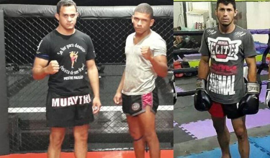 Os atletas Sebastião Aparecido, Júlio Massara e  Thiago Arce