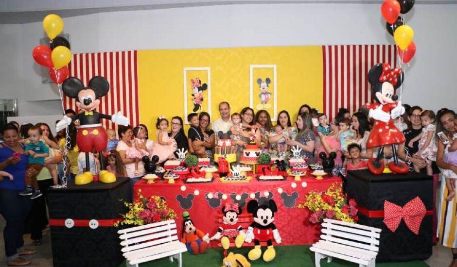 Cerca de 40 crianças, acompanhadas dos pais, participaram da festa realizada pela Cassems.