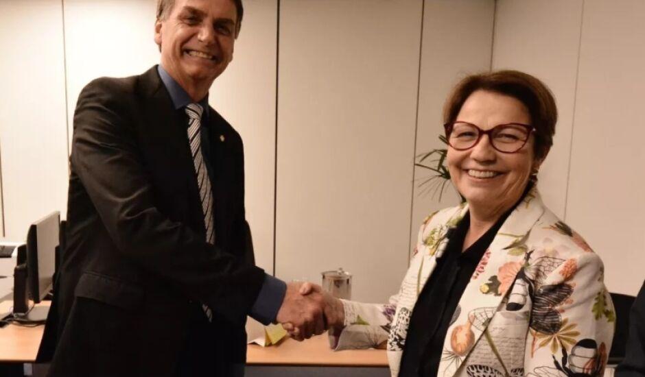 Jair Bolsonaro e Tereza Cristina se reuniram nesta quinta-feira para alinhar os planos no futuro governo