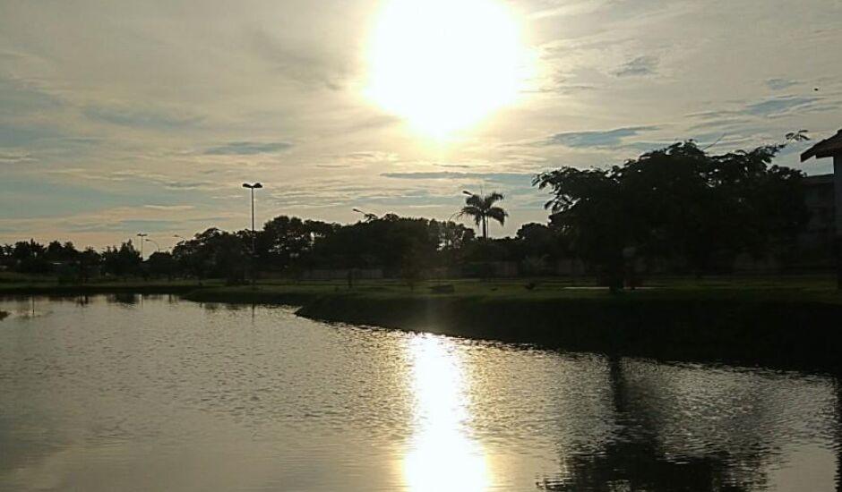 Vista do Parque Espelho d'Àgua, em Paranaíba, ontem à tarde