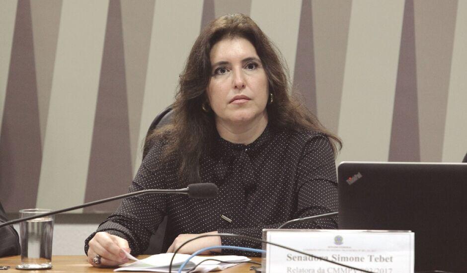 Simone Tebet diz que não há possibilidade de retirada de sua candidatura com legenda do MDB