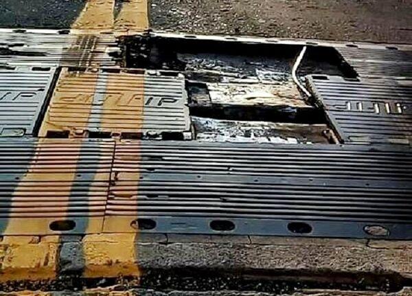 Motoristas fazem alerta de perigo devido a danificação na estrutura da ponte do Alencastro